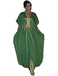 Women Malakia Hand Made with Gold Embroidery Long Length One Size