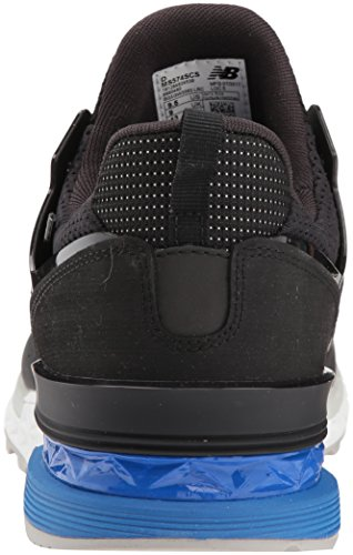 New Balance Men's 574S Sport Sneaker,Black/Blue,11.5 D US