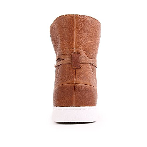 HUB Tin Leather Gefüttert Cognac White Brown
