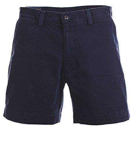 Polo Chino Shorts (Polo Ralph Lauren Mens 6 in Flat Front Chino Short (Aviator Navy, 32))