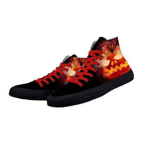 Scarpe Da Ginnastica Di Prima Moda Scarpe Da Ballo Arrabbiato Halloween Zucca Stampa Sneaker Pizzo