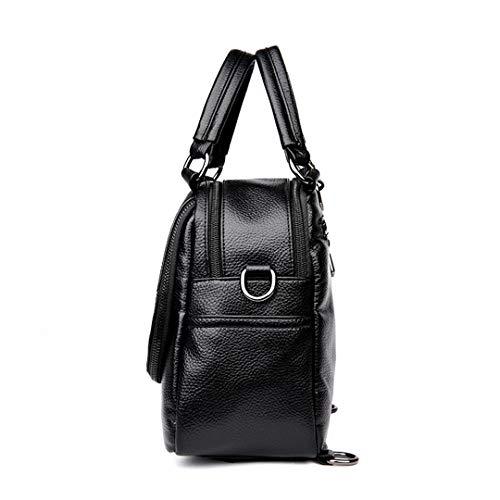Brown Delle Cuoio Stile Backpack Donne Di Piccole Zaini Multifunzionale Per Ragazze Lo Preppy Della Bagpack Backpacks Il D'annata Femminile Zaino Scuola Black qRwEp4x56x