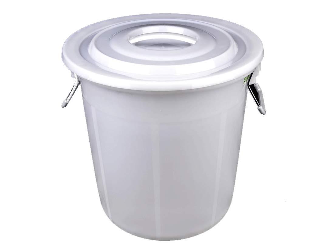 Grande poubelle peut grande cuisine de capacit/é dhygi/ène ext/érieure sans couverture avec le grand seau en plastique commercial rond de couvercle