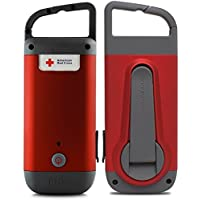 American Red Cross ARCCR100R-DBL Clipray the Crank-Powered, Clip-On Flashlight and Smartphone Charger (2 Pack), Red
