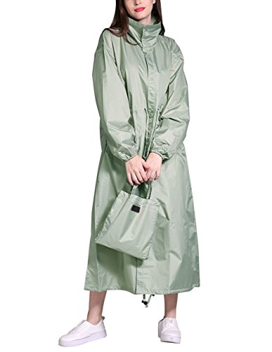 - Buauty Womens Hooded Raincoat Lightweight Portable Long Rain Jacket with Pockets
