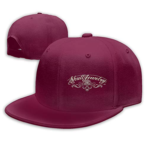 GRacnd Spooky Logo for Halloween Cool Unisex Baseball Cap with Adjustable Strap Dark Red