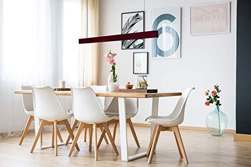 Linear Suspension Lighting Purpleheart Wood Led Chandelier Dining Room Light Long Pendant Wood Light Fixture High Quality