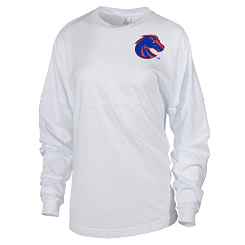 Official NCAA Boise State Broncos BSU Buster Bronco Women's Spirit Wear Jersey T-Shirt,Small,Natural Pfd-mm18ag02 ()