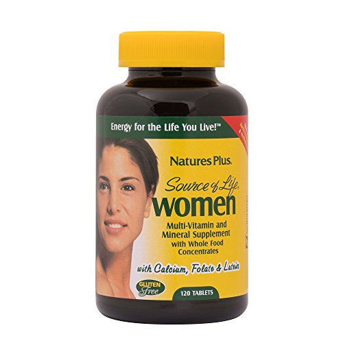 Natures Plus Source of Life Women – 120 Vegetarian Tablets – Whole Food Multivitamin and Mineral Supplement for Overall Health, Energy – Gluten Free – 60 Servings
