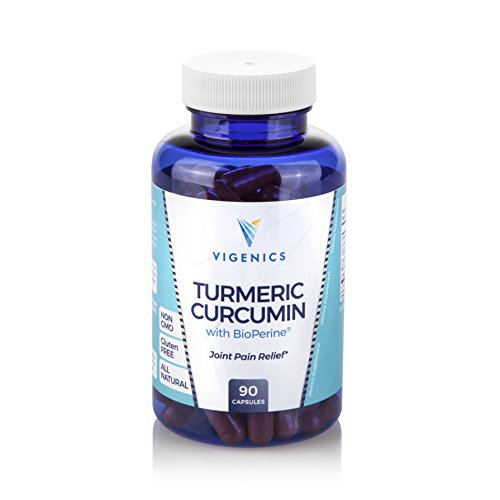 Organic Turmeric Curcumin Bioperine Supplement: Natural Herbal Supplements for Joint Pain Relief, Digestive Health, Memory Improvement & Mood Support - Non GMO Gluten Free Antioxidant - 90 Capsules