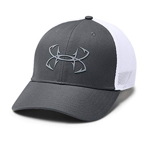 Under Armour Outerwear Men's Fish Hunter Cap, Pitch Gray (012)/Steel, Medium/Large (Fish Men Hats)