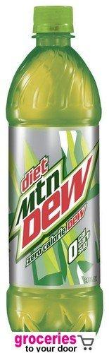 e7a41b0eb3fe Mountain Dew Diet Soda, 24 oz Bottle (Pack of 18)