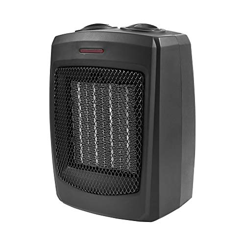 Home_Choice Electric Portable Heater Small Space Heater with Adjustable Thermostat Ceramic Space Heater with Overheat Protection and Carry Handle for Home and Office,750W/1500W