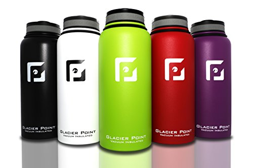 Point Green (Best Vacuum Insulated Stainless Steel Water Bottle (32 OZ). Double Walled Construction. Powder Coat. Glacier Point)