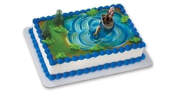 Excellent Amazon Com Cakedrake Fisherman Fishing Boat Pole Grooms Cake Funny Birthday Cards Online Alyptdamsfinfo