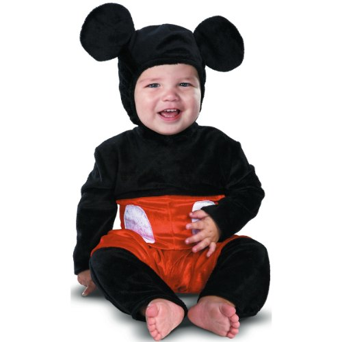 Disguise Costumes Mickey Mouse Prestige Infant, Black/Red/White, 12-18 Months - Mickey Mouse Baby Halloween Costumes