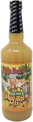 Baja Bob's Mai Tai Mix - 32oz - Cocktail Mixer - No Sugar Added