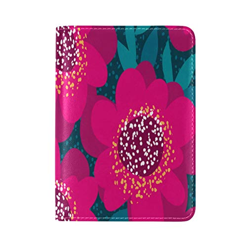 (Passport Cover Case Peony Rose Red Vintage Hand Drawn Leatherµfiber Multi Purpose Print Passport Holder Travel Wallet For Women And Men 5.51x3.94 In)
