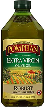 Pompeian Robust Extra Virgin Olive Oil, First Cold Pressed, Full-Bodied Flavor, Perfect for Salad Dressings &a