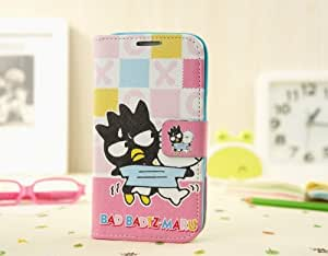Free Shipping Fashionable Cool Cartoon Bad Badtz-Maru XO Leather Flip Case Cover For Samsung Galaxy Note 2 / N7100 G