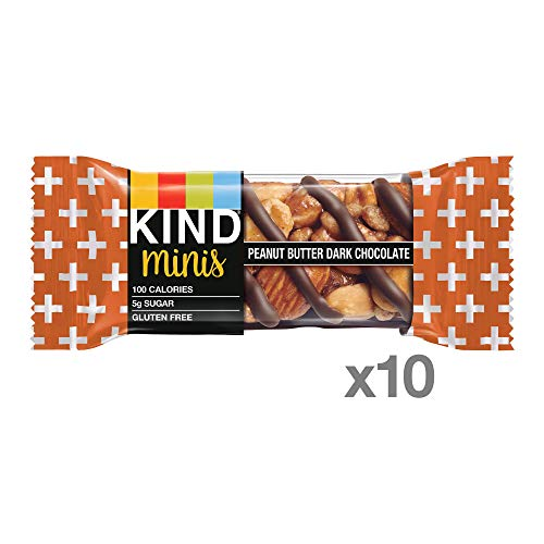 KIND Minis, Peanut Butter Dark Chocolate, 7 Oz (Pack Of 10)