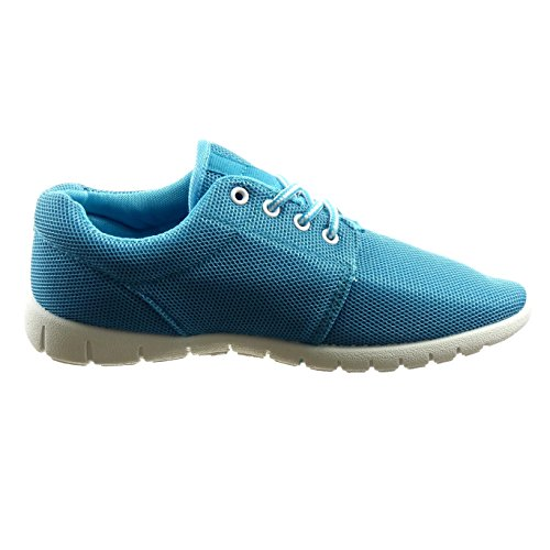 Sopily - damen Mode Schuhe Sneaker - Blau