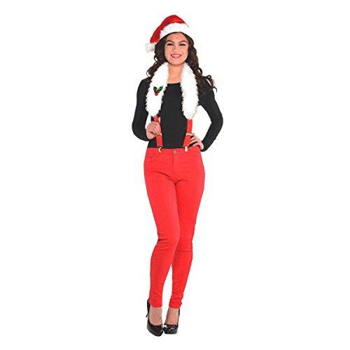 AMSCAN Fun Christmas Soft Suspenders Santa Costume