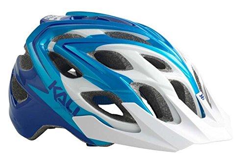 Sonic Helmet - Kali Protectives Chakra Plus Helmet, Sonic White/Blue, X-Small/Small