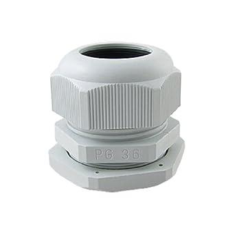 eDealMax PG36 Blanca de plástico impermeable IP67 Conectores glándulas de Cable: Amazon.com: Industrial & Scientific