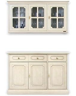 Credenza e vetrina pensile abbinata, Composizione mobili per cucina ...