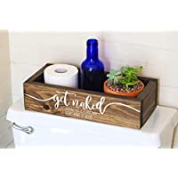 Toilet Paper Holder - Get Naked Sign - Funny Bathroom Humor- Bathroom Decor