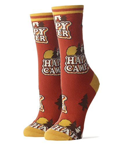 Happy Camper Crew Socks made our list of Outdoor Inspirational And Funny Camping Quotes