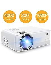 "Projector APEMAN 4800 Lumen Mini Portable Projector 1280*720P LED Projector 200"" LCD Home Cinema Projector Support 1080P HDMI/VGA/AV/USB/Micro SD/TV Stick for Home Entertainment"