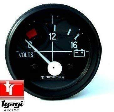 Tyagi Racing 16 Voltmeter Dial Gauge Volt Meter Battery Meter: