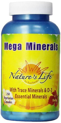 Nature's Life Minerals Veg Capsules, Mega, 250 Count Review