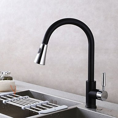 Kitchen Faucet - Contemporary Chrome Pull-Out   -Pull-Down Deck Mounted