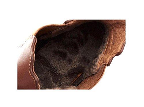 tacco 39 brown in scamosciata 37 BROWN a alla donna caviglia vera elastico pelle pelle in spillo Stivaletto 51wTFqn