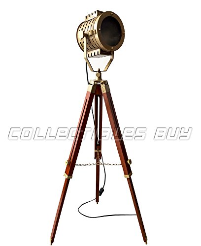New 2018 Royal Vintage Designer Brass Antique Searchlight with Tripod Brown Nautical Floor Lamp Unique Handmade Art - collectilbesBuy by Collectibles Buy
