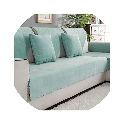 - three thousand Waterproof Sofa Cushion Isolation of Children's Urine Towel sofacover Non-Slip Pure Color Four Seasons Universal pet Sofa Cover,Natural,90120cm