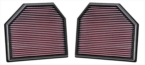 K&N engine air filter, washable and reusable:  2011-2019 BMW V6/V8/L6 (M2 coupe, M3, M4, M5, M6, M6 coupe) 33-2488 ()
