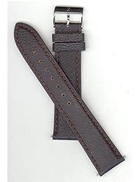 Genuine Swiss Army Garrison Brown Textured Leather 20mm Watch Strap
