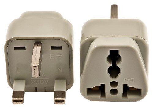 VCT VP102 Universal Outlet Plug Adapter for UK, 3-Prong Travel Adapter