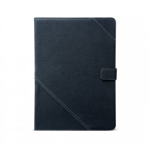 Zenus Samsung Galaxy Tab 3 10.1 Cambridge Diary Case Cover [Navy] High Quality Canvas Fabric Carrying Case with Kickstand
