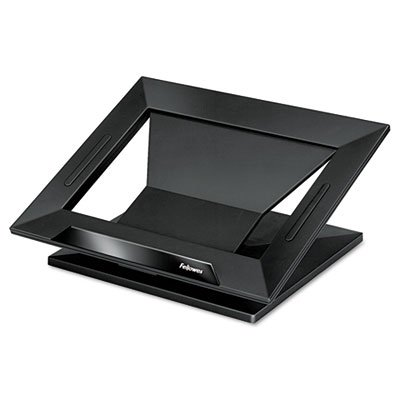 Designer Suites Laptop Riser, 13 1/8 x 11 1/8 x 4, Black, Sold as 1 Each by Fellowes