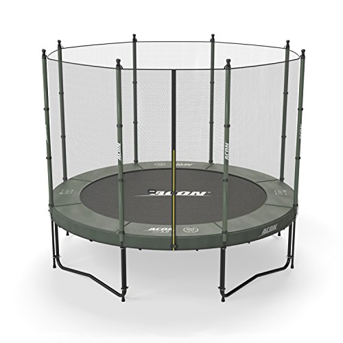 Acon Air 3.0 Trampoline 10' with Enclosure | Includes 10ft Round Trampoline and Safety Net | Designed for Kids