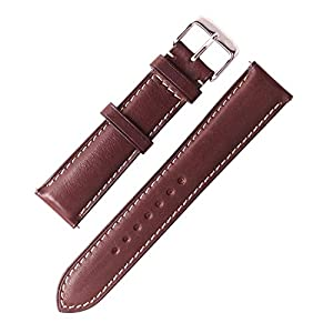 W&S 2-Piece Premium Leather Watch Strap - Quick Release Band