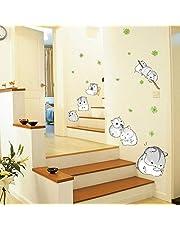 KBIASD Muurstickers Cavia Huisdier Leuke Hamster Totoro Knaagdier Muis Rat Kleine Vinyl Stickers Kids Kwekerij Kinderen Kamer Kawaii Muurschildering