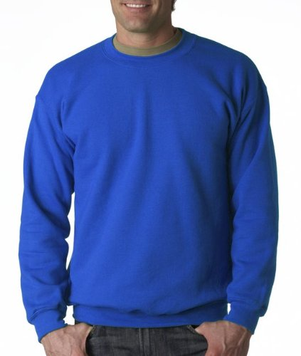 Royal Blue Crewneck - Gildan Men's Heavy Blend Crewneck Sweatshirt - Large - Royal