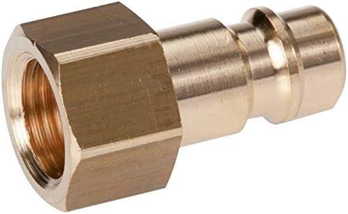 IG NW7,2 Messing Werkstoff:Messing Gewinde innen:G 1//8 Kupplungsstecker G 1//8