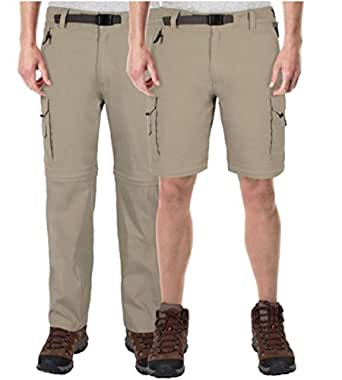 BC Clothing Mens Convertible Cargo Pant with Stretch ...